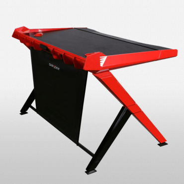 Gaming Desk  Black/White/Green/Red