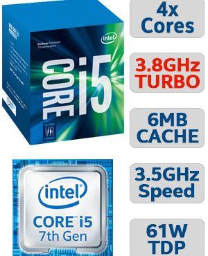 Intel® Core™ i5-7500 Processor  (6M Cache, up to 3.80 GHz)