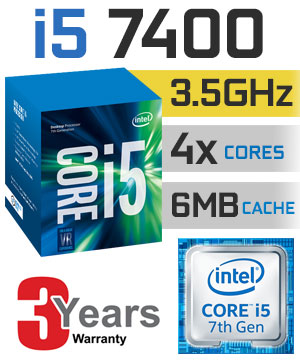 Intel® Core™ i5-7400 Processor  (6M Cache, up to 3.50 GHz)
