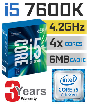 Intel® Core™ i5-7600K Processor  (6M Cache, up to 4.20 GHz)