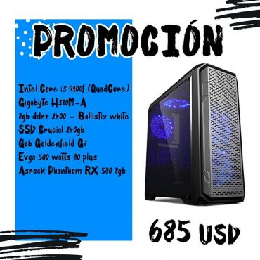 Pc gamer i3 900f Asrock Phantom RX 580 8gb