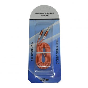 Cable Usb Plano P/iphone Naranja