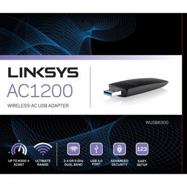 Adaptador Linksys Ac1200 Wusb6300 Usb Wireless