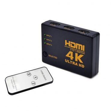 Switch Hdmi 4k – 3 puertos más control remoto