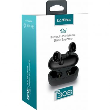 Auricular Cliptec 308 Wireless C/caja Carga Gray