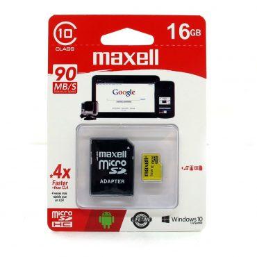 Memoria Mic Sd Maxell Hc 16gb C10 C/adaptador