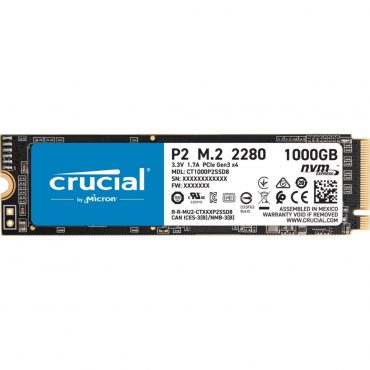 Ssd Crucial P2 1tb Pcie Nvme