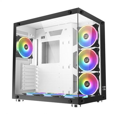 Gabinete Xigmatek Aquarius white 7 Fan RGB Con Control Remoto
