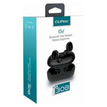 Auricular Cliptec 308 Wireless C/caja Carga Red