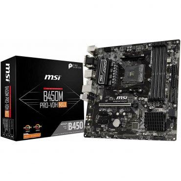 Motherboard Msi B450m Pro-vdh Max Am4