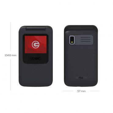 Celular Logic F5g/ds Black 900/2100