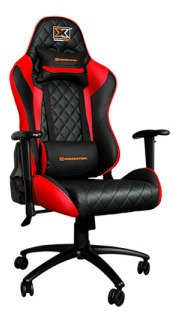 Silla Gamer Xigmatek Hairpin Color Negro con Diseño Naranja